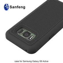 phone back cover with football texture anti slip case for samsung galaxy S8 Active G892A
