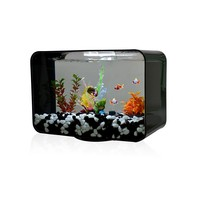 Plastic glass led light 300 gallon aquarium for sale