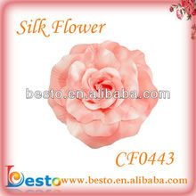CF0443 High quality wholesale pink fabric silk brooch flower pins for dresses