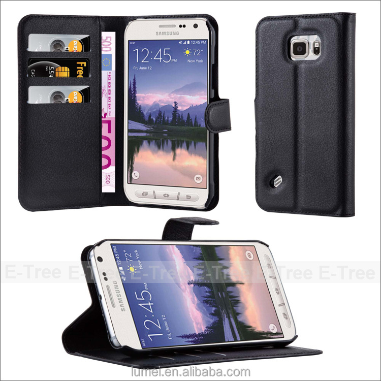 Slim Handy PU Leather Flip Folio Wallet Case Cover For Samsung Galaxy S6 Active