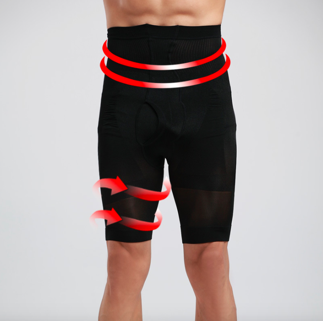 Men's high waist body shaper Burning Fat Shaper slimming yoga Sport pants