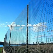 PVC Coated 2x2 galvanized welded wire mesh for fen /3 bends wire mesh fence/triangle femce/ with peach square round post factory