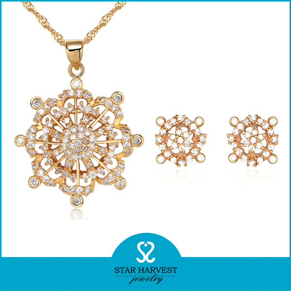 Gold Plated Zircon Sterling Silver Jewelry