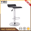 China adjustable swivel wood and leather bar chair fashion leisure shop high commercial