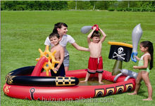 Large wholesale thickened insulation double drainage play baby shower children's inflatable swimming 53041 Pirate ships sink