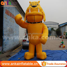 Realistic inflatable dog/ custom giant inflatable dog model/ inflatable cartoon dog for sale