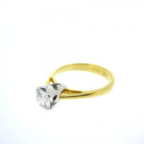 Diamond and Gold Ladies Ring RL-D4784