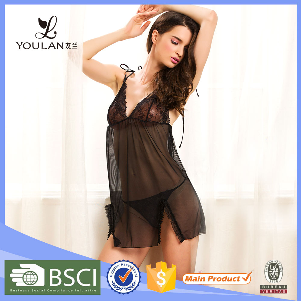 China Manufacturer Nude Dress Hot Sexy Transparent Nighty Sexy Lingerie
