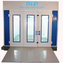 BTD automobile dry powder coating batch oven inflatable spray booth