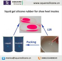 liquid gel silicone rubber for shoe heel insoles making