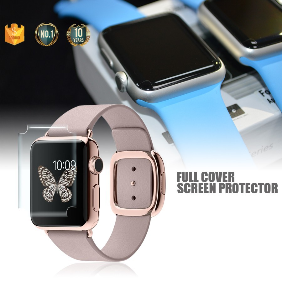 Trade Assurance For Full Screen Cover Apple watch TPU screen protector / anti glare screen protector wholesale / tempered glass
