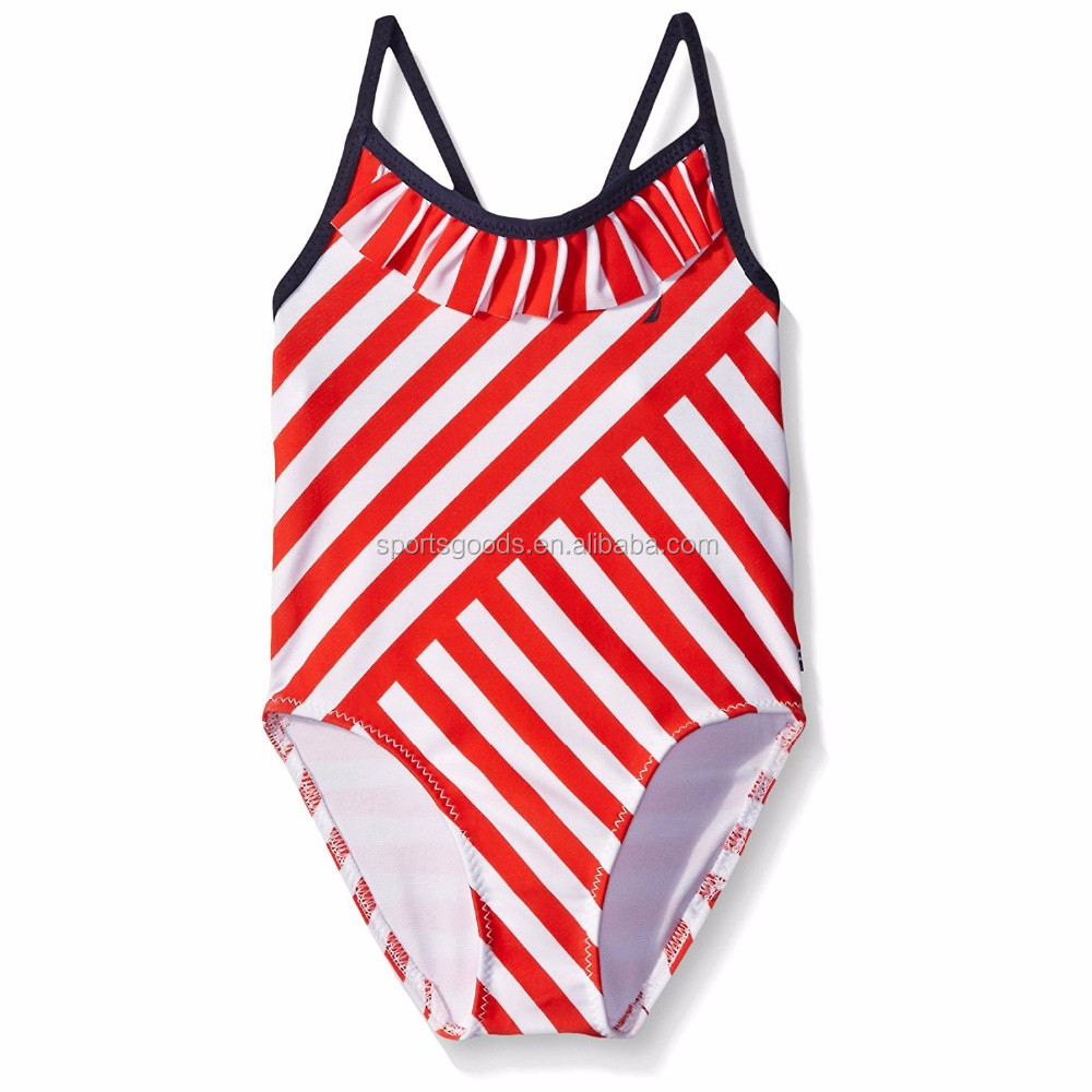 Sportswear Kids Baby Kids Swimwear Girls Stripe One Piece Swimsuit