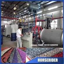 Horse Rider Machinery PVC spinning carpet making machinery / Plastic coil mat extrusion line