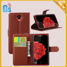 Cheap Wholesale Leather Wallet Mobile Phone Case For Lenovo S820 Flip Cover