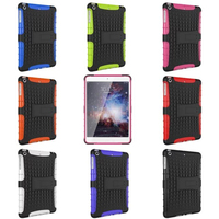 Multicolor TPU+PC Spider Stand Cell Phones Case Back Cover for Ipad Mini