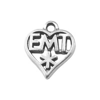 online shopping cheap vintage custom made antique silver heart With EMT word charms