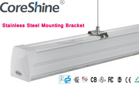 4.5M 120W Linkable Pendant LED Linear Tube Light with Daylight and Motion Sensor Linear Lighting Fixture