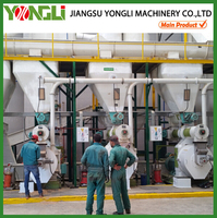 CE approved top quality YONGLI wood chips pellet press machine with oil cooling system