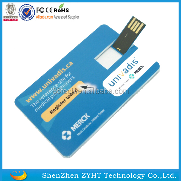 Promotional Custom Logo usb Card, 100% Real Capacity Credit Card usb 2.0, Cheapest Factory