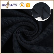wholesale shaoxing factory double faced cotton polyester knit metallic fabric dye