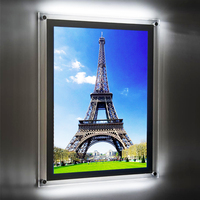 Photo poster led crystal light frame
