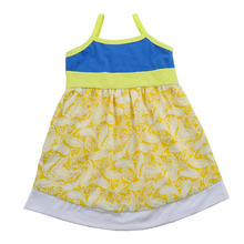 Yiwu summer girl party dress fashion frock flower girls ruffle sleeveless dress for kids children baby frock design pictures