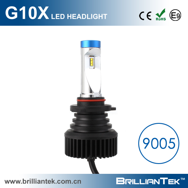 BrillianTek Manufacturer G10X Radiator Fin Cooling Perfect Light Shape Car LED Headlight 9005 9006 With CE ROHS EMARK Approval