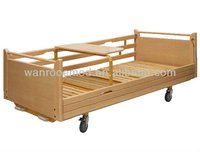 BAM207 Two Crank Wooden Home Care Beds For Patient Care