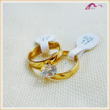Latest Cheap Wholesale Gold Crystal Sample Wedding Ring Designs For Women