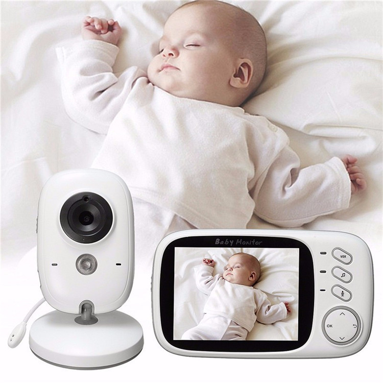 2.4GHz 3.2 inch Digital Wireless Baby Monitor Video Audio Night Vision Color Security Camera 2 Way Talk