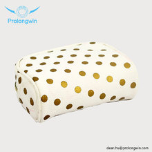 best selling wedding PU Customized size plain canvas cosmetic bag