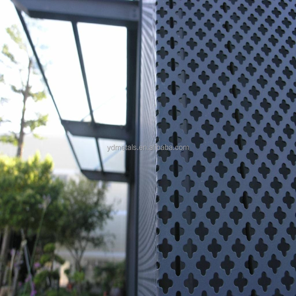Decorative Exterior Panels : Architectural perforated metal panels home design