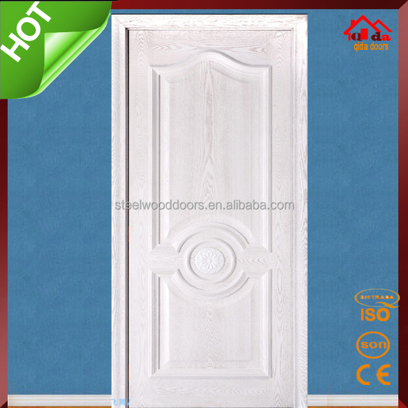 Veneer Plain White Chinese Wooden Door For Sale