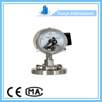 Stainless steel bourdon sedeme electric contact pressure gauge