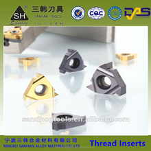 Popular cnc thread inserts for aluminium, carbide alu thread inserts,steel inserts for threading turning tool holder