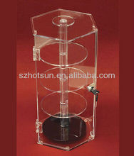 rotatable acrylic nail polish display case with tiers