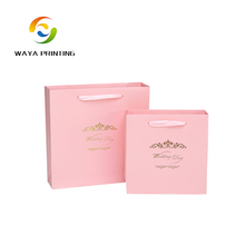 Custom logo printing hot stamping decorative wedding door gift paper bag
