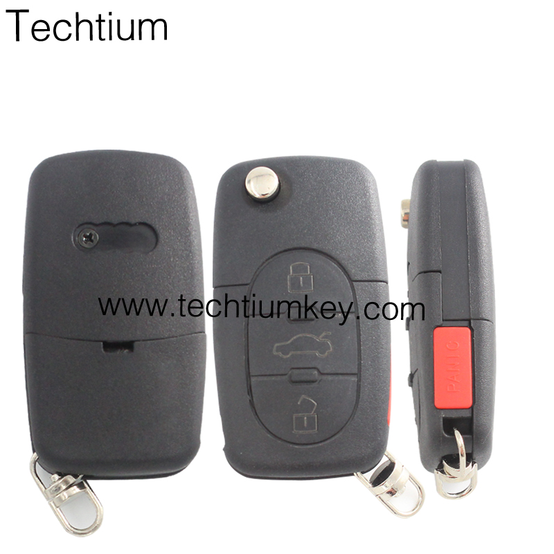 need programmed by VVDI 3 button for Audi remote car key shell with 8E0837220Q 433Mhz