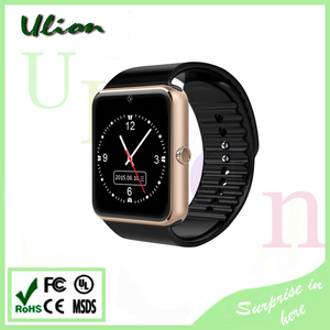 Wholesale Smartwatch Wrist Mobil Watch Phone Sport Smart Watch GT08 With Camera