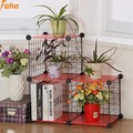 3 cubes metal wire storage organizer assebled by plastic panel and wire panel (FH-AW085)