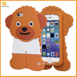 Poodle silicone skin mobile phone case for iphone 5 5s