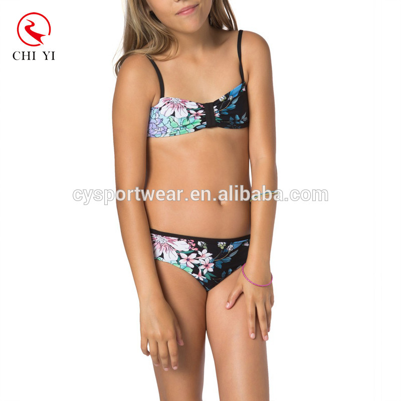 Kids floral printing swimwear bikini/girls' swimsuit/kid's swimsuit/beachwear