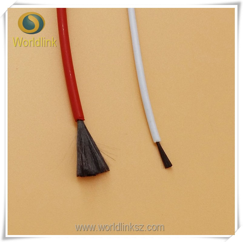 Electric wire Heat Resistant Silicone Rubber Carbon Fiber Electric wire