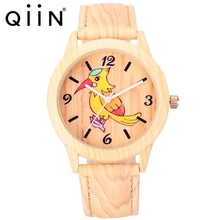 new watch 2017 charming imitation wood watch vogue wrist watch for men and women QU0310