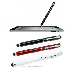 3 in 1 stylus ball pen with light laser pen touch for promotion, led light pen