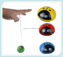 Cartoon Ladybug Cute <strong>Yoyo</strong> Balls Professional Color Wooden Single Bearing Rotation Balls Children Educational Toys
