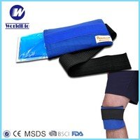 2016 flexible reusable gel ice packs & fabric wrap for hot cold therapy - great for head elbow wrist knee ankle