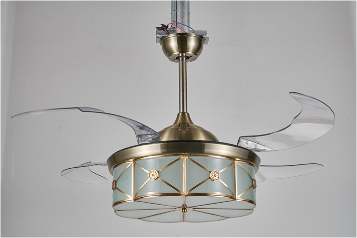 Hidden Ceiling Fan ceiling fan with led light hidden blade 42 in invisible blades