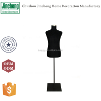 Decorative black velvet male mannequins, wholesale mannequins, flexible foam mannequins with metal stands