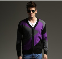 New arrival Colorful Button up Outdoor top Men Cashmere Cardigan Sweater for sale